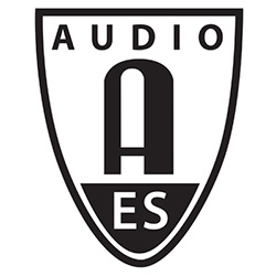 The logo of the Audio Engineering Society, as included in the article written by Winifred Phillips (award-winning composer of video game music).