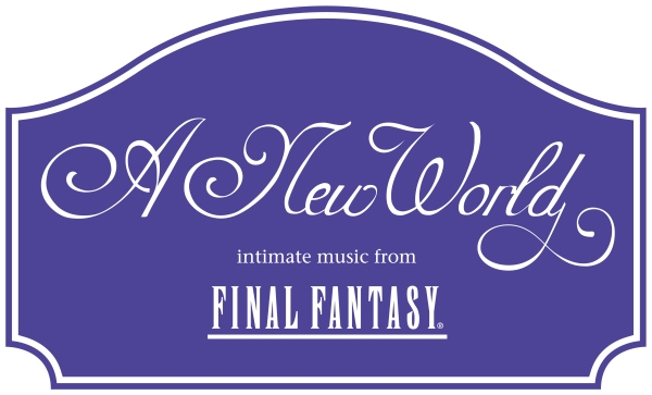 Image of the official logo from the concert tour A New World: Intimate Music from Final Fantasy - as included in the article by Winifred Phillips (video game composer).
