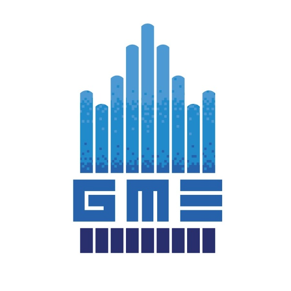 The official Game Music Ensemble at UCLA logo. This image is used to illustrate an article about game music concerts during the Covid-19 pandemic, written by game music composer Winifred Phillips.