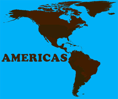 An image depicting the American continent, used in a discussion of online communities. This article was written by Winifred Phillips (composer of music for video games).