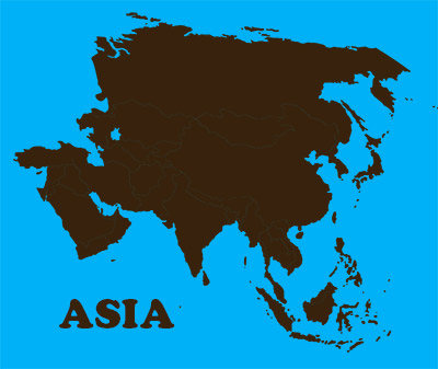 A graphical depiction of the continent of Asia, used as illustration in a discussion of online discussion groups. Game music composer Winifred Phillips wrote this article.