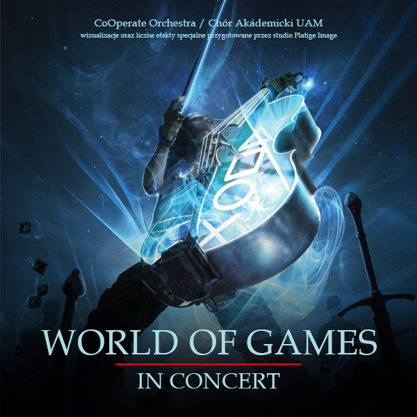 The official logo of World of Games in Concert. Used as illustration in the article by Winifred Phillips (composer of music for video games).
